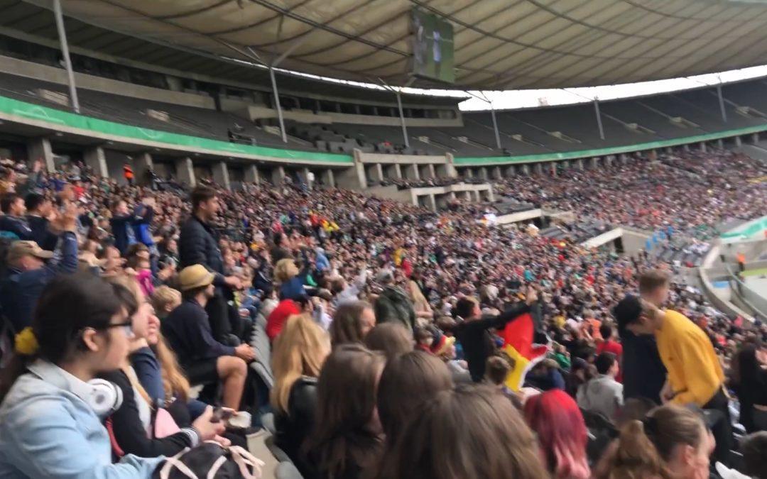 Fußball-Länderspiel im Olympiastadion