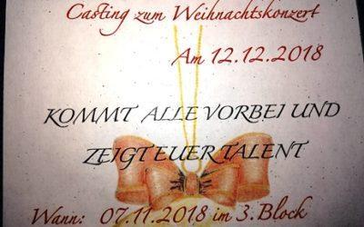 Casting zum Weihnachtskonzert